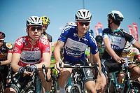 Tony Martin (DEU/OPQS) & Tom Boonen (BEL/OPQS) at the startline<br /> <br /> 2014 Belgium Tour<br /> stage 4: Lacs de l'Eau d'Heure - Lacs de l'Eau d'Heure (178km)