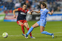 Chicago, IL - Saturday Sept. 24, 2016: Ali Krieger, Taylor Comeau during a regular season National Women's Soccer League (NWSL) match between the Chicago Red Stars and the Washington Spirit at Toyota Park.