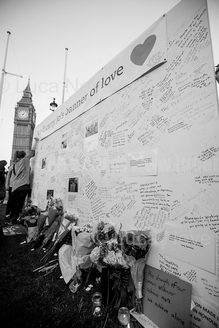 """""""Vigil & Memorial for Jo Cox MP in London's Parliament Square"""" (Jo Cox was a Labour Member of Parliament who was brutally killed by the far-right extremist Thomas Mair on the 16th of June 2016).<br /> <br /> London, March-July 2016. Reporting the EU Referendum 2016 (Campaign, result and outcomes) observed through the eyes (and the lenses) of an Italian freelance photojournalist (UK and IFJ Press Cards holder) based in the British Capital with no """"press accreditation"""" and no timetable of the main political parties' events in support of the RemaIN Campaign or the Leave the EU Campaign. <br /> On the 23rd of June 2016 the British people voted in the EU Referendum... (Please find the caption on PDF at the beginning of the Reportage).<br /> <br /> For more photos and information about this event please click here: http://lucaneve.photoshelter.com/gallery/17-06-2016-Vigil-Memorial-for-Jo-Cox-MP-in-Londons-Parliament-Square/G0000Vu8Pw8i.oNY/C0000GPpTqAGd2Gg<br /> <br /> For more information about the result please click here: http://www.bbc.co.uk/news/politics/eu_referendum/results"""