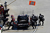 Harrison Burton, Kyle Busch Motorsports, Toyota Tundra DEX Imaging , makes a pit stop.