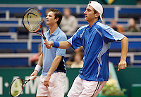 20-2-06, Netherlands, tennis, Rotterdam, ABNAMROWTT, Thiemo de Bakker(foreground) and Anthal van der Duim in the doubbles