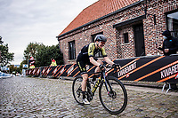 Sarah Roy (AUS/Mitchelton-Scott) up the Oude Kwaremont<br /> <br /> 17th Ronde van Vlaanderen 2020<br /> Elite Womens Race (1.WWT)<br /> <br /> One Day Race from Oudenaarde to Oudenaarde 136km<br /> <br /> ©kramon