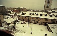Sarajevo / BIH 1992.<br /> View from window of Karadzic' apartment.<br /> Sarajevo durante l'assedio. Veduta dall'appartamento dove viveva Radovan Karadzic prima della guerra.<br /> Foto Livio Senigalliesi