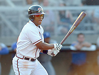 June 19, 2008: Outfielder L.V. Ware (6) of the Danville Braves, rookie Appalachian League affiliate of the Atlanta Braves, in a game against the Burlington Royals at Dan Daniel Memorial Park in Danville, Va. Photo by:  Tom Priddy/Four Seam Images