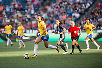 Seattle, WA - Thursday July 27, 2017:   Bia Zaneratto during a 2017 Tournament of Nations match between the women's national teams of the Japan (JAP) and Brazil (BRA) at CenturyLink Field.