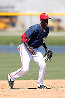 Washington Nationals shortstop Deion Williams #8 during an Instructional League game against the national team from Italy at Carl Barger Training Complex on September 28, 2011 in Viera, Florida.  (Mike Janes/Four Seam Images)