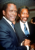 Sidney Poitier Morgan Freeman 1990 Photo by Adam Scull-PHOTOlink.net