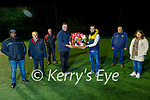 Tommy O'Connor from Ballyheigue, winner of the St Pats Blennerville GAA clubs Christmas hamper, presented by John Kerins at the club on Tuesday night. Back l to r: Phil Curran and Nicola Hayes. Back l to r: Dipo Dairo, Jimmy Savage, Sean Daly, John Kerins, Tommy O'Connor, Terry Boyle and Marie Fitzgibbon,