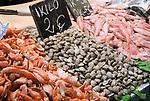 ESP, Spanien, Andalusien, Provinz Cádiz, Jerez de la Frontera: Markt, Fische, Muscheln, Krabben    ESP, Spain, Andalusia, Province Cádiz, Jerez de la Frontera: market, fish, shells, crabs