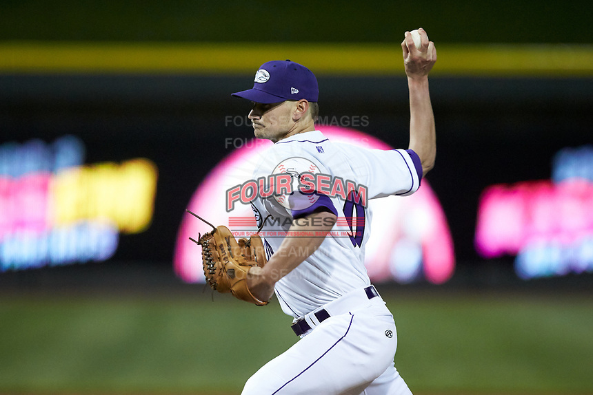 Winston-Salem Dash starting pitcher Zach Lewis (30) in action against the Wilmington Blue Rocks at BB&T Ballpark on April 15, 2019 in Winston-Salem, North Carolina. The Dash defeated the Blue Rocks 9-8. (Brian Westerholt/Four Seam Images)