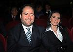 RICCARDO PACIFICI CON LA MOGLIE<br /> CELEBRAZIONE DEI 60 ANNI DELLO STATO D'ISRAELE TEATRO DELL'OPERA ROMA 2008