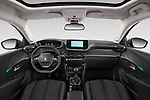 Stock photo of straight dashboard view of a 2020 Peugeot 208 Allure 5 Door Hatchback