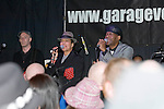 Pauline Black and Arthur Gaps Hendricksonsinging with The Selecter at The Garage in Swansea during their Made in Britain tour of the UK..