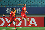 Adelaide United Defender Tarek Elrich celebrating his score during the AFC Champions League 2017 Group H match between Jiangsu FC (CHN) vs Adelaide United (AUS) at the Nanjing Olympics Sports Center on 01 March 2017 in Nanjing, China. Photo by Marcio Rodrigo Machado / Power Sport Images