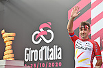 Elia Viviani (ITA) Cofidis at sign on before the start of Stage 5 of the 103rd edition of the Giro d'Italia 2020 running 225km from Mileto to Camigliatello Silano, Sicily, Italy. 7th October 2020.  <br /> Picture: LaPresse/Massimo Paolone | Cyclefile<br /> <br /> All photos usage must carry mandatory copyright credit (© Cyclefile | LaPresse/Massimo Paolone)