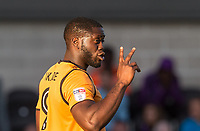 Goalscorer John Akinde of Barnet during the 2017/18 Pre Season Friendly match between Barnet and Swansea City at The Hive, London, England on 12 July 2017. Photo by Andy Rowland.
