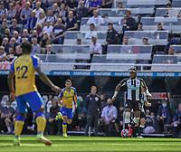 28th August 2021; St James Park, Newcastle upon Tyne, England; EPL Premier League football, Newcastle United versus Southampton; Allan Saint-Maximin of Newcastle United on the ball