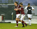 26/12/2009  Copyright  Pic : James Stewart.sct_jspa02_falkirk_v_hearts  .:: MICHAEL STEWART IS CONGRATULATED BY DAVID TEMPLETON AFTER HE SCORES HEARTS FIRST FROM THE SPOT  :: .James Stewart Photography 19 Carronlea Drive, Falkirk. FK2 8DN      Vat Reg No. 607 6932 25.Telephone      : +44 (0)1324 570291 .Mobile              : +44 (0)7721 416997.E-mail  :  jim@jspa.co.uk.If you require further information then contact Jim Stewart on any of the numbers above.........