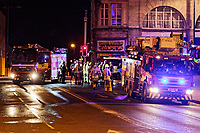 2018 02 06 Police and fire service, Swansea city centre, Wales, UK