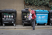 Residents recycle plastic bottles at Park View recycling centre, Haringey.