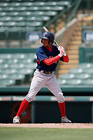 GCL Red Sox Angel Maita (22) bats during a Gulf Coast League game against the GCL Orioles on July 29, 2019 at Ed Smith Stadium in Sarasota, Florida.  GCL Red Sox defeated the GCL Pirates 9-1.  (Mike Janes/Four Seam Images)
