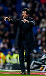 Manager Santiago Hernan Solari of Real Madrid reacts during the La Liga 2018-19 match between Real Madrid and Rayo Vallencano at Estadio Santiago Bernabeu on December 15 2018 in Madrid, Spain. Photo by Diego Souto / Power Sport Images