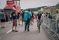 Jens Keukeleire (BEL/Orica-Scott) rolling in after the stage<br /> <br /> 104th Tour de France 2017<br /> Stage 8 - Dole › Station des Rousses (187km)