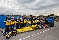 Sep 1, 2017; Clermont, IN, USA; NHRA top fuel driver Antron Brown and crew members during qualifying for the US Nationals at Lucas Oil Raceway. Mandatory Credit: Mark J. Rebilas-USA TODAY Sports