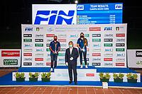 Club awards ceremony<br /> PREMIAZIONI SOCIETA<br /> Roma 13/08/2020 Foro Italico <br /> FIN 57 LVII Trofeo Sette Colli - Campionati Assoluti 2020 Internazionali d'Italia<br /> Photo Giorgio Scala/DBM/Insidefoto