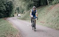 Gianluca Brambilla (ITA/Quick-Step Floors) up the Mur de Péguère (Cat1/1375m/9.3km/7.9%)<br /> <br /> 104th Tour de France 2017<br /> Stage 13 - Saint-Girons › Foix (100km)