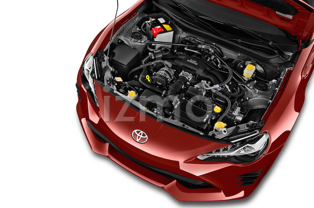 Car Stock 2018 Toyota 86 Automatic 2 Door Coupe Engine  high angle detail view
