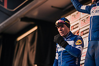 5 hours of racing in sub-zero temperatures, leaves Philippe Gilbert (BEL/Quick Step floors) with painful 'frozen' eyes<br /> <br /> 50th GP Samyn 2018<br /> Quaregnon > Dour: 200km (BELGIUM)