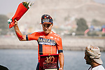 Domenico Pozzovivo (ITA) Bahrain-Merida finishes 2nd overall after Stage 6 of the 10th Tour of Oman 2019, running 135.5km from Al Mouj Muscat to Matrah Corniche, Oman. 21st February 2019.<br /> Picture: ASO/P. Ballet | Cyclefile<br /> All photos usage must carry mandatory copyright credit (© Cyclefile | ASO/P. Ballet)