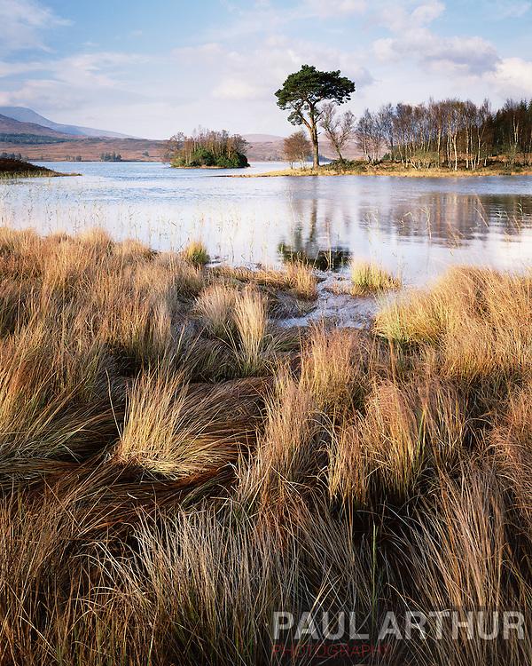 Loch Tulla, Scottish Highlands, in autumn