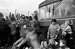 Greenham Common December 1982 Womens Peace Camp blockade the USAF military camp.