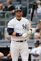 New York Yankees outfielder Nick Swisher #33 during a game against the Tampa Bay Rays at Yankee Stadium on September 21, 2011 in Bronx, NY.  Yankees defeated Rays 4-2.  Tomasso DeRosa/Four Seam Images