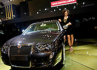 Roewe 750, Shanghai Automotive (SAIC)'s first own-brand model based on the Rover 75 platform, at the 2006 International Automotive Exhibition in Beijing, China. .19 Nov 2006