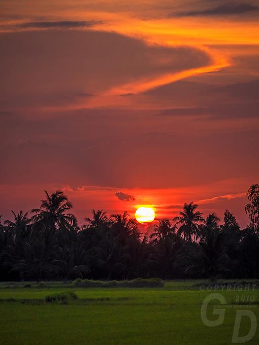 Sunset in the Mekong Delta, Vietnam