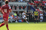 Guiness Pro12<br /> Ulster outside half Ian Humphreys kick a conversion to level the score.<br /> Scarlets v Ulster<br /> Parc y Scarlets<br /> <br /> 06.09.14<br /> ©Steve Pope-SPORTINGWALES