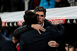 Real Madrid's coach Santiago Solari and CD Leganes's coach Mauricio Pellegrino during Copa Del Rey match between Real Madrid and CD Leganes at Santiago Bernabeu Stadium in Madrid, Spain. January 09, 2019. (ALTERPHOTOS/A. Perez Meca)<br />  (ALTERPHOTOS/A. Perez Meca)