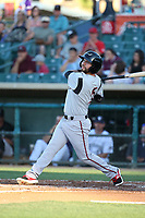 Peter Van Gansen (5) of the Lake Elsinore Storm bats against the Lancaster JetHawks at The Hanger on June 14, 2017 in Lancaster, California. Lancaster defeated Lake Elsinore, 4-0. (Larry Goren/Four Seam Images)