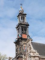 Westerkerk in Amsterdam, Provinz Nordholland, Niederlande<br /> Westerkirk in Amsterdam, Province North Holland, Netherlands
