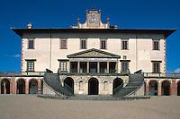 Italien, Toskana, Caiano, Villa Medicea Poggio a Caiano , UNESCO-W, UNESCO-Weltkulturerbe; heritage site, Welterbe; UNESCO World Heritage; Kulturerbe; Weltkulturerbeeltkulturerbe