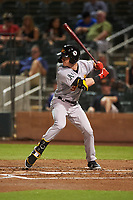 Mesa Solar Sox Greg Deichmann (9), of the Oakland Athletics organization, at bat during an Arizona Fall League game against the Salt River Rafters on September 19, 2019 at Salt River Fields at Talking Stick in Scottsdale, Arizona. Salt River defeated Mesa 4-1. (Zachary Lucy/Four Seam Images)