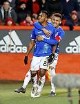 06.02.2019 Aberdeen v Rangers: Alfredo Morelos celebrates his  second goal