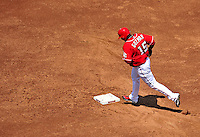 23 August 2009: Washington Nationals' shortstop Cristian Guzman rounds the bases after hitting a solo home run in the second inning against the Milwaukee Brewers at Nationals Park in Washington, DC. The Nationals defeated the Brewers 8-3 to take the third game of their four-game series, snapping a five games losing streak. Mandatory Credit: Ed Wolfstein Photo