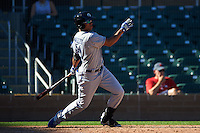 Glendale Desert Dogs outfielder Jacob Scavuzzo (21) at bat during an Arizona Fall League game against the Surprise Saguaros on October 23, 2015 at Salt River Fields at Talking Stick in Scottsdale, Arizona.  Glendale defeated Surprise 9-6.  (Mike Janes/Four Seam Images)