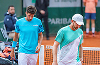 Paris, France, 01 June, 2018, Tennis, French Open, Roland Garros, Men's doubles: Matwe Middelkoop and Robin Haase (NED) (L)<br /> Photo: Henk Koster/tennisimages.com