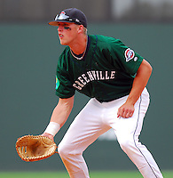6 May 2007: First baseman Lars Anderson in a game between the Greenville Drive, Class A affiliate of the Boston Red Sox, and the Augusta GreenJackets at West End Field in Greenville, S.C. Photo by:  Tom Priddy/Four Seam Images