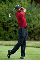 30th August 2020, Olympia Fields, Illinois, USA; Tiger Woods of the United States plays his shot on the 12th tee during the final round of the BMW Championship on the North Course at Olympia Fields Country Club